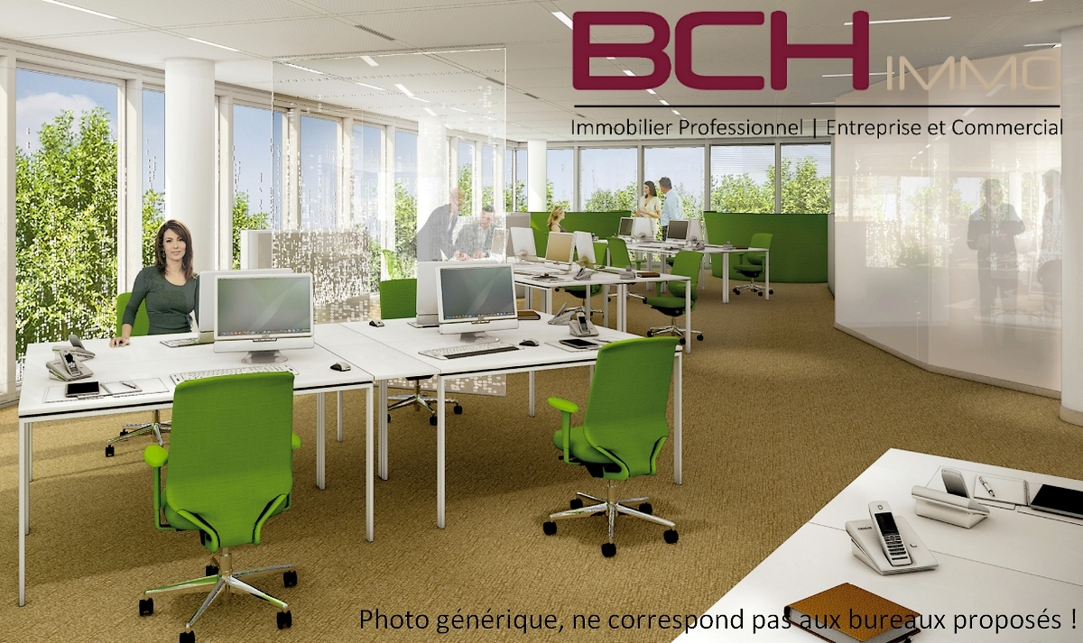 BCH IMMO spécialiste en immobilier professionnel, d'entreprise Aubagne 13400, vous propose la location de ces bureaux lumineux en open space situés à Aubagne 13400