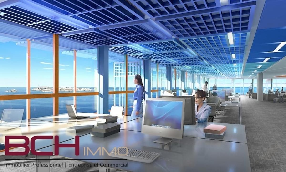 L'agence immobilière BCH IMMO spécialiste en immobilier professionnel, d'entreprise à Marseille 13014, vous propose la location de ces bureaux avec parking privé situé aux Arnavaux à Marseille 13014